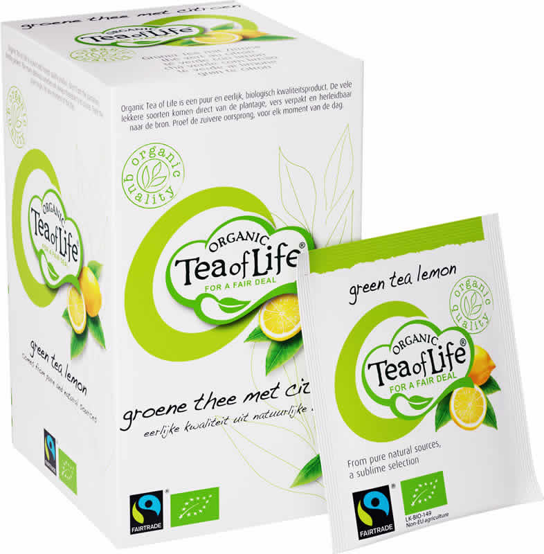 Tea of Life Organic Green tea lemon 25 bags