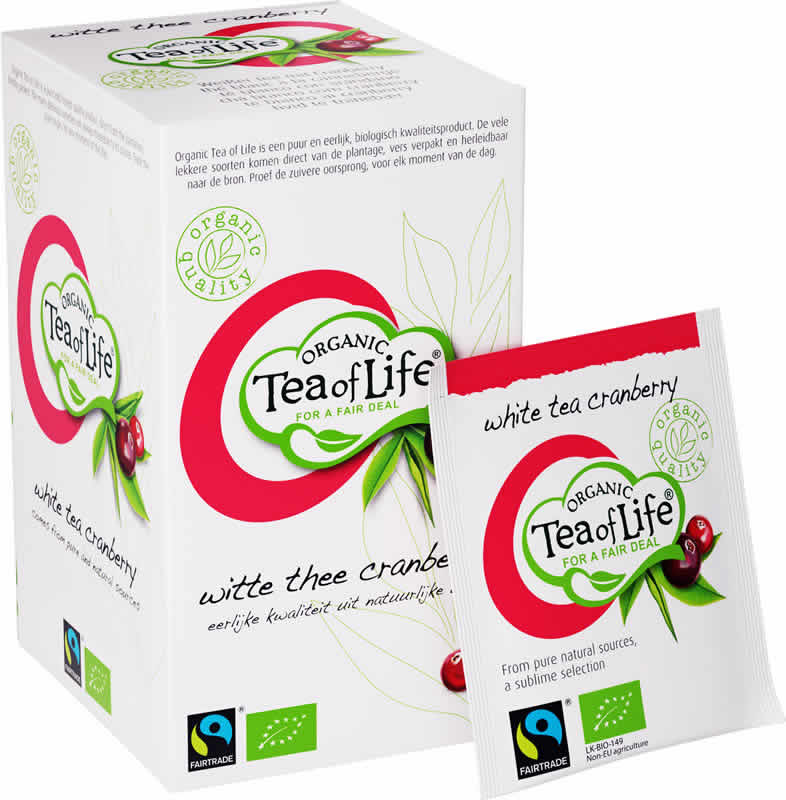 Tea of Life Organic witte thee cranberry 25 zakjes
