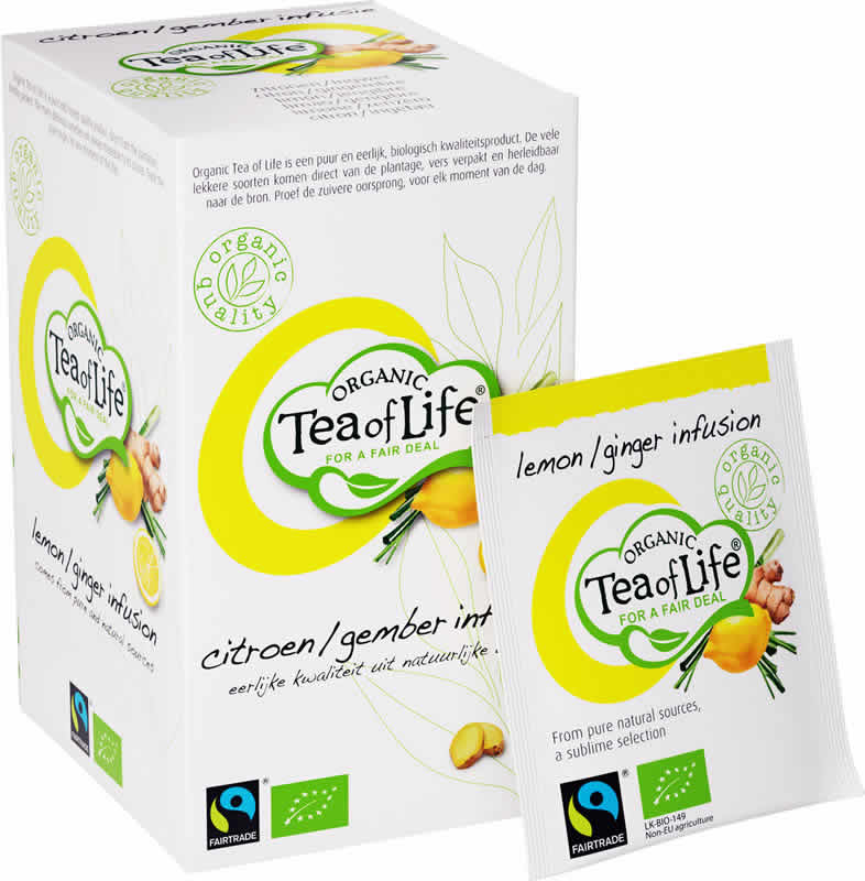 Tea of Life Organic groene thee citroen gember