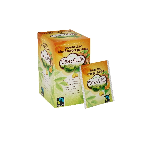 Tea of Life Groene thee sinaasappel / Gember