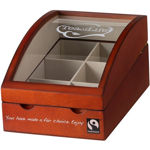 Tea of Life luxe wooden box with 6 compartments